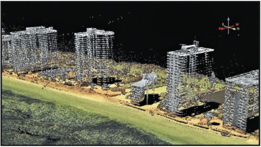 High-rise structures from a USGS GPSCIII countywide lidar collection in Florida.