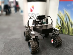 "CISYS were demonstrating their Mars capable autonomous ""Tumbler"" vehicle"