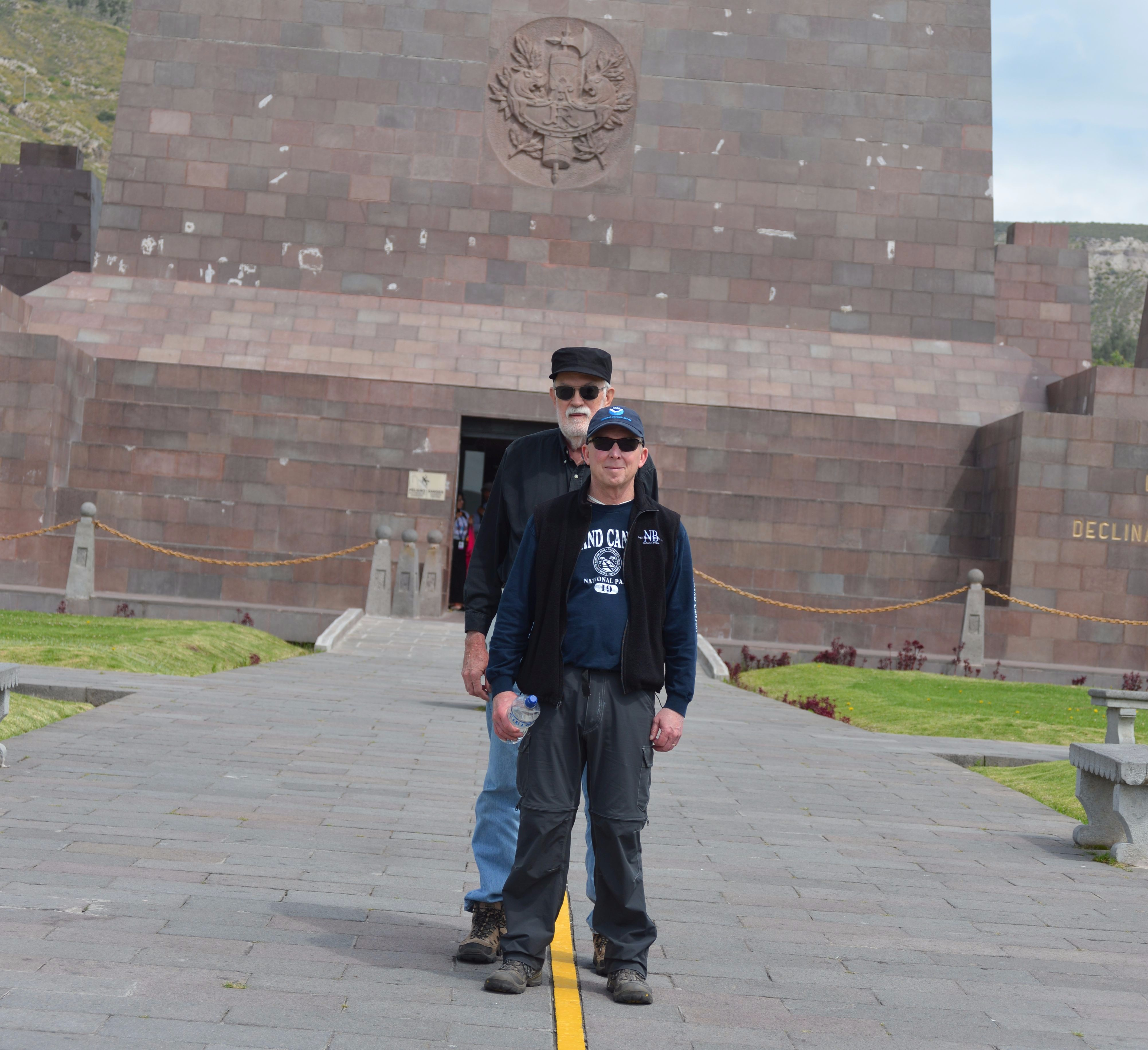 Rich and Mark at the Mitad Del Mundo.