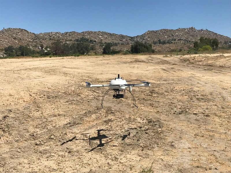 Microdrones' mdMapper1000DG takes off in Juniper Flats