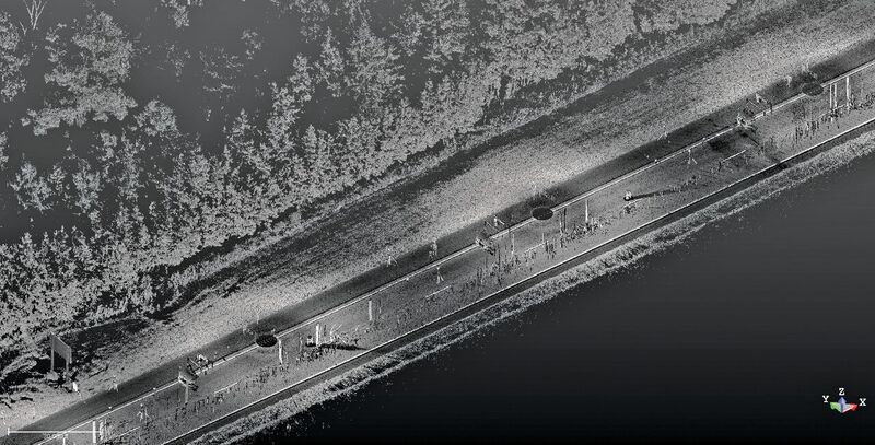 A point cloud view of Route 1.