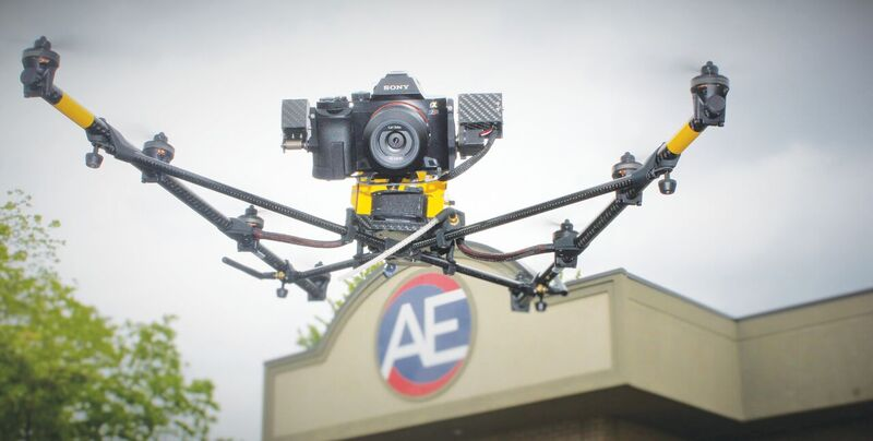 One of the two camera packages Anderson chose for its Top- con Falcon 8 UAV is the 36 MP Sony Alpha 7R DSLR camera for the firm's inspection and photogrammetry applications.