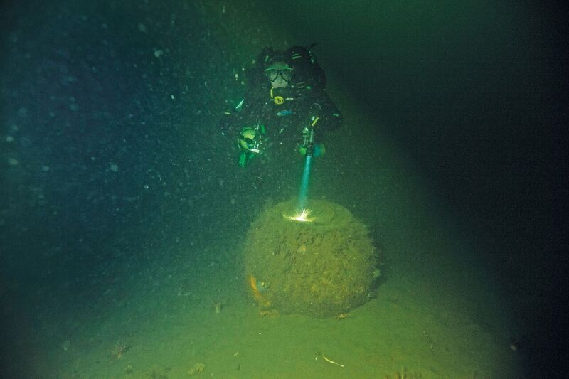 A Highball lying on the seabed. Credit: Lindsay Brown of BSAC.