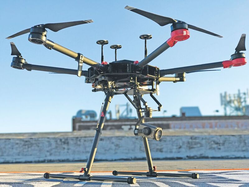Larger UAS can handle the optical zoom camera payloads with room to spare