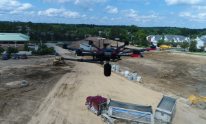 In a proof-of-concept test scanning stockpiles, NOAR inverted a BLK360 under a DJI M600. NOAR president Chad Studer says they have more development to do on this concept, but that results how promise. (Image credit - NOAR Technologies)