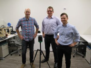 Ryan Frenz, Marc Zinck, and Aaron Morris: members of the Autodesk Pittsburgh team that developed key elements of the ReCap family of products, including the ReCap Pro mobile app that pairs with the BLK360. lidar mapping
