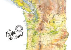 Elizabeth Person's map of the Pacific Northwest