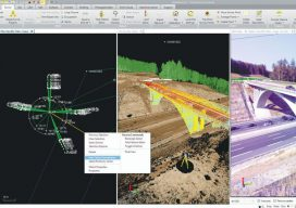 Raw field data from GNSS, total stations, and scanning can be processed and combined in a single environment using Trimble Business Center.