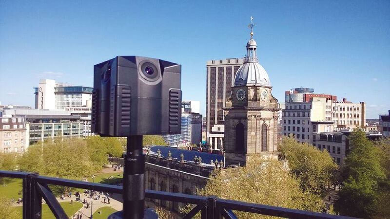 Grounds uses an iStar Fusion 360° camera to capture a scene in London
