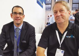 Ron Bisio and Gavin Schrock catch up at Intergeo 2017.