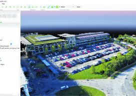 true-color point cloud was derived from drone photos