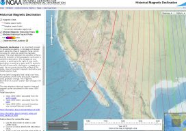 NOAA's Historic Magnetic Declination