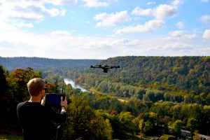 Drone tests in Latvia