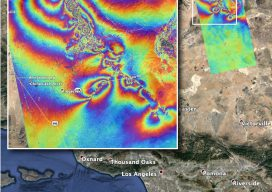 InSAR Quake rainbow