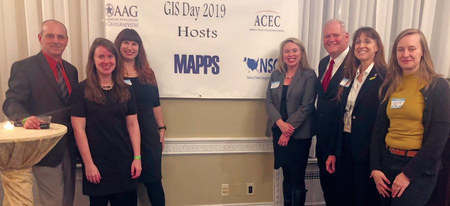 MAPPS, NSGIC, ACEC, AASG, and AAG hosted a GIS Day reception on Capitol Hill.