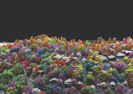 Species information was derived from hyperspectral imagery and then applied to the lidar point cloud for this image.