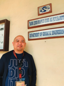 Engineer Louie Balicanta is chairperson of the Geodetic Engineering Department.