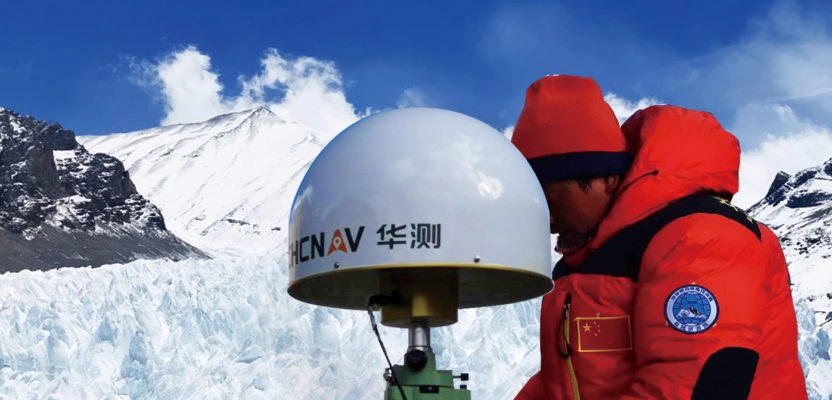 Everest: CHC P5 GNSS receivers and CHC C220 3D Choke Antenna, were deployed at three of the seven Everest elevation network bases.