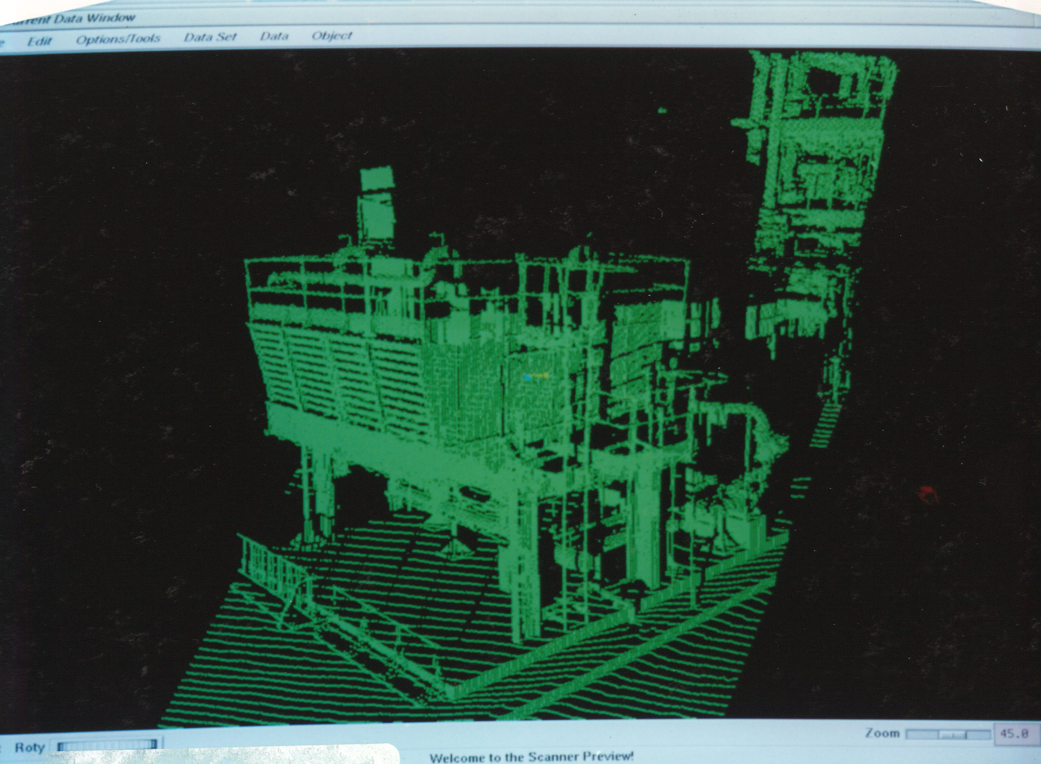Demo laser scan of equipment and structure at Chevron's Richmond, California, refinery.
