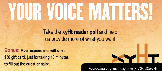 xyHt Reader Survey open through Monday!
