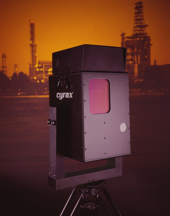 Original (1998) press release photo for the Cyrax 2400 laser scanner. Image courtesy: Eric Sahlin